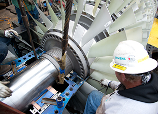 Siemens Energy to supply gas-fired turbines generators Kansas Municipal Energy Agency KMEA western Kansas Sega Inc Jameson Energy Center SGT-400