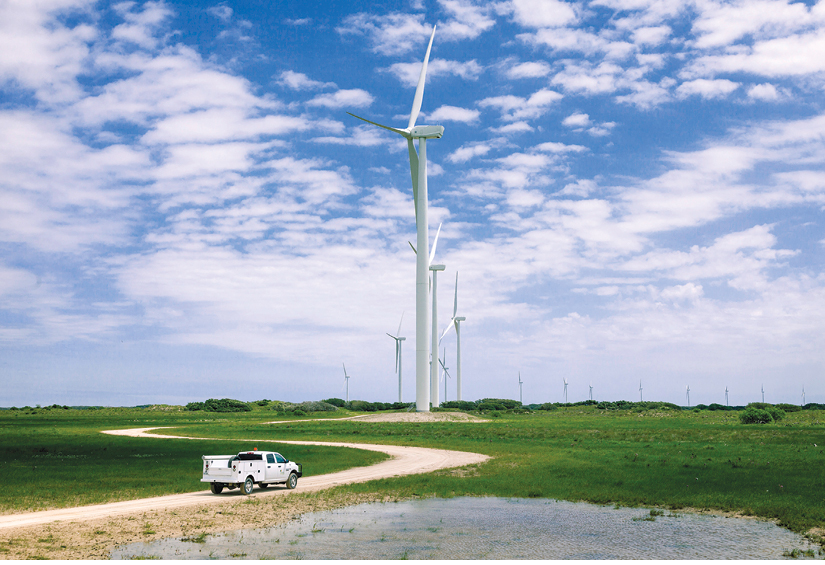 The Avangrid Renewables Baffin Wind Farm, 86-MW of which Nike is purchasing. Credit: Business Wire.