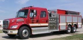 Colwich (Kan.) Fire Department recently took delivery of a Toyne pumper/tanker.
