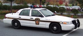 Ford is equipping some Crown Victoria police interseptor models with fire suppression systems.