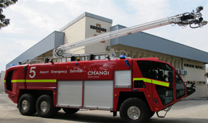 pierce  oshkosh deliver fire apparatus  singapore airport fire engineering