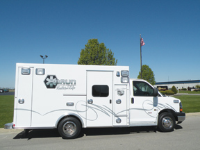 (2) Braun also debuted its Phillip C. Braun Signature Series Type III ambulance in honor of its founder. The rig displayed is on a Chevy G3500 chassis.