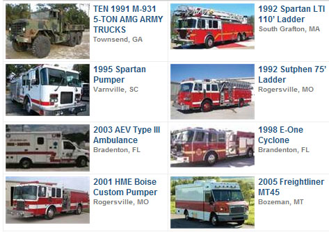 Featured Used Fire Trucks for Sale
