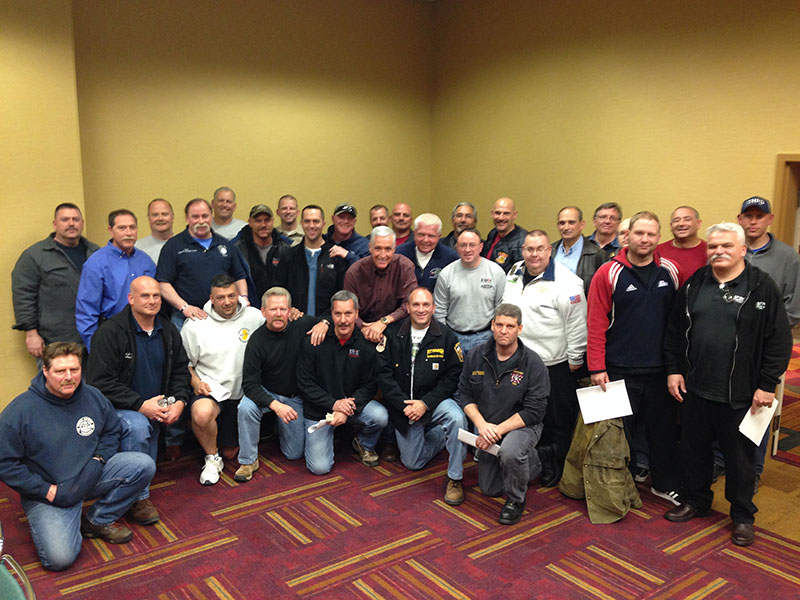Chief Bobby Halton, center, and the HOT instruction team for FDIC 2014.