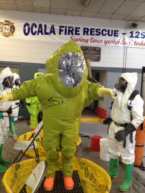 Cold Weather Doesn't Stop FL Firefighters from Hazmat Training