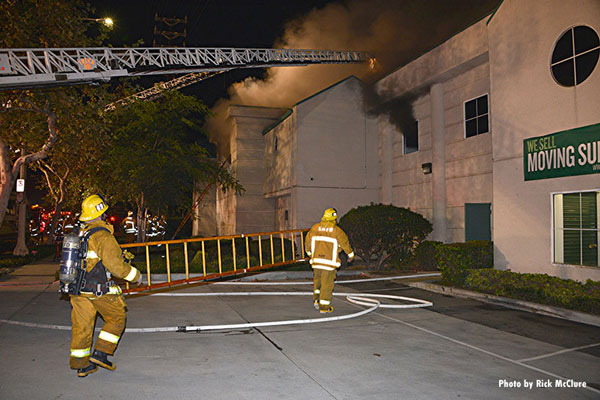 Los Angeles (CA) Fire Department Battles Storage Facility Fire