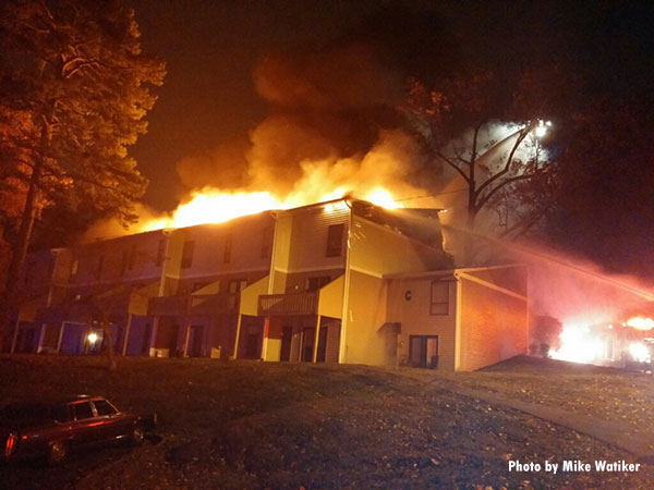 Firefighters Battle Large Knoxville (TN) Apartment Fire