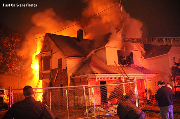 Firefighters Battle Raging Hempstead (NY) Fire