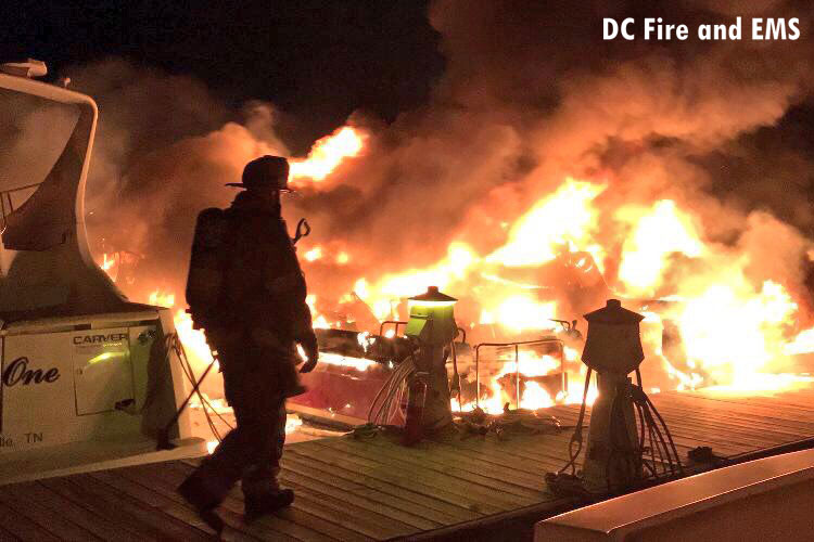 Firefighters respond to marina fire