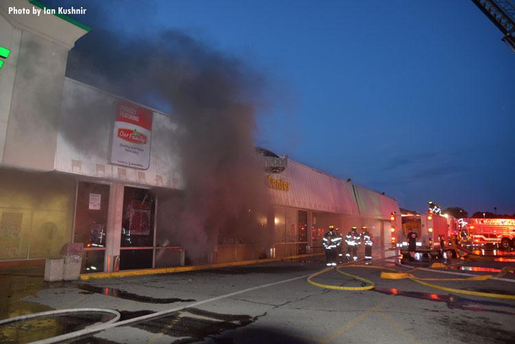 Firefighters Battle Two Alarm Mi Commercial Fire Fire Engineering