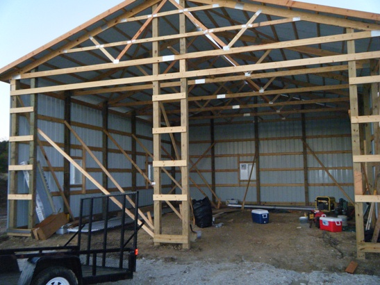 Login fire engineering for Building a pole barn shed