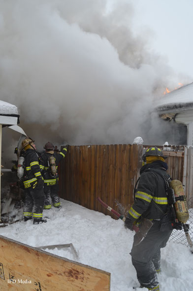 Indianapolis (IN) Firefighters Battle Working Residential Fire with Extension