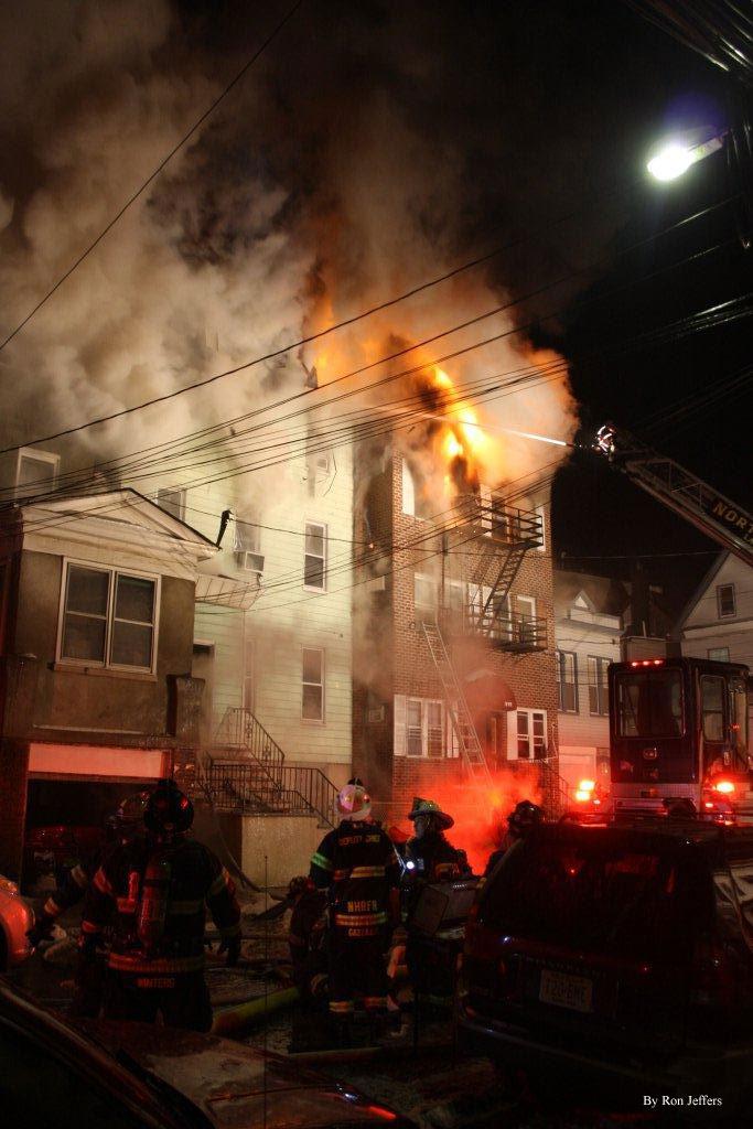 Fire Jersey City Row Home