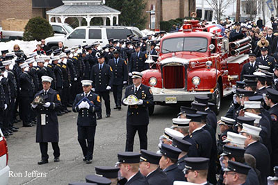 Fallen New Jersey firefighter Greg Barnas is laid to rest.