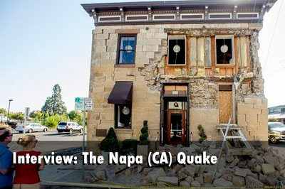 Interview with Napa (CA) BC Jarrett Anderson on the August quake
