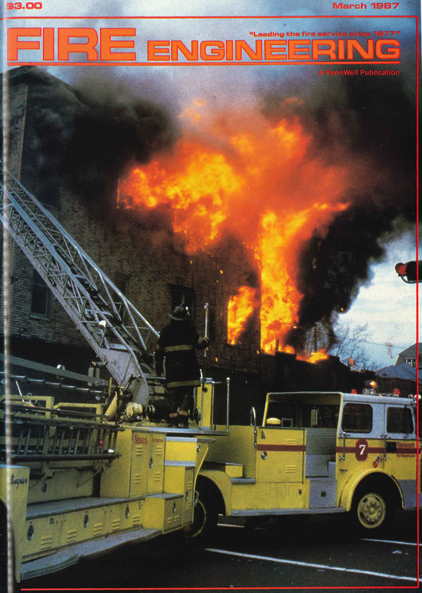 March 1987 cover to Fire Engineering