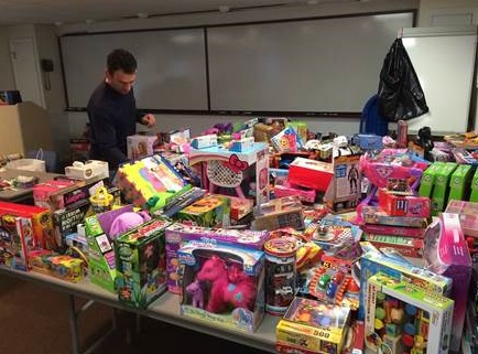 Stamford Ct Firefighters Deliver Toys To Local Children