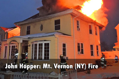 Crews Face Heavy Fire Conditions at Mt. Vernon (NY) Fire