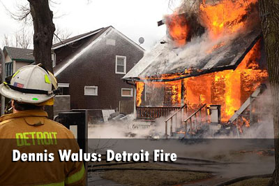 Fire Tears Through Detroit Dwelling