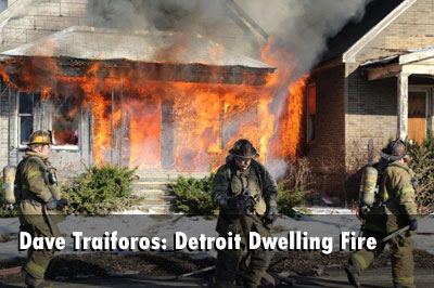 Detroit Crews Control Fire in Vacant Dwellings