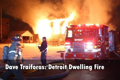 Detroit Firefighters Battle Vacant Fire with Extension
