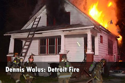 Detroit House Fire: Detroit Firefighters Control Fire at Occupied Dwelling