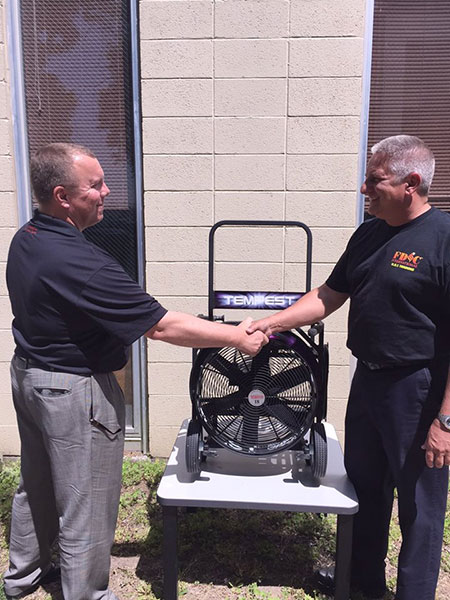Blower giveaway at FDIC International 2015