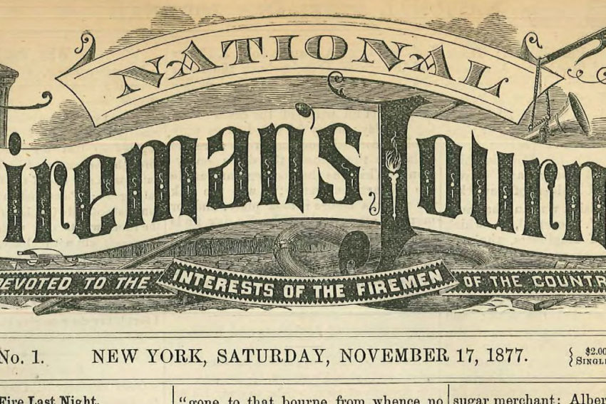 National Fireman's Journal header