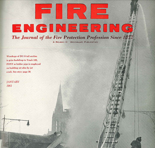 The January 1961 cover of Fire Engineering.