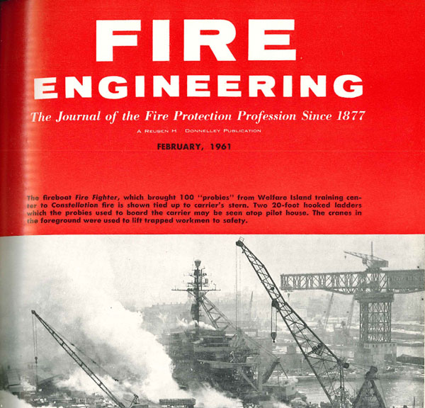 The Feburary 1961 cover of Fire Engineering.