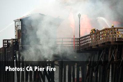 CA Pier Fire