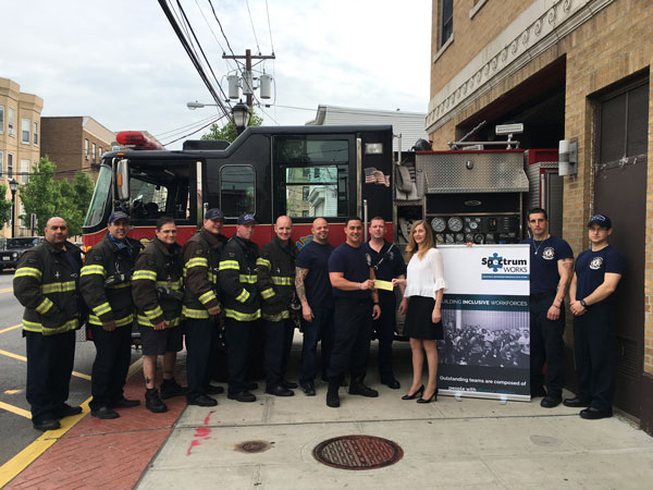 North Hudson firefighters raise funds for autism awareness