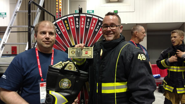 Firefighters help raise money for the Terry Farrel Firefighters Fund at FDIC International 2016.