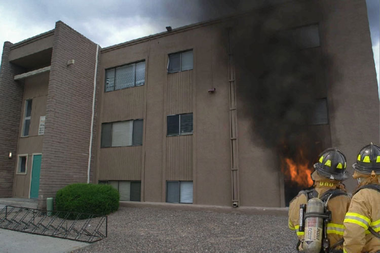 Fire Simulation: Apartment Fire
