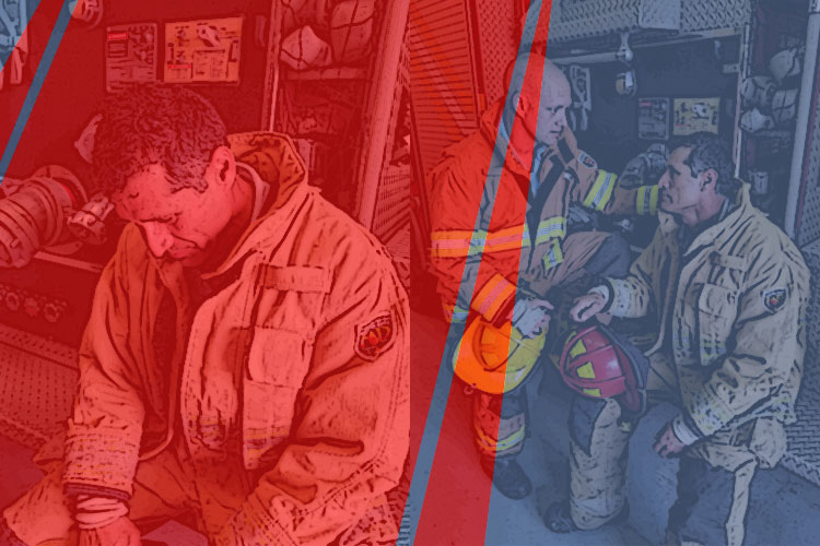 Firefighters in crisis turn to their peers