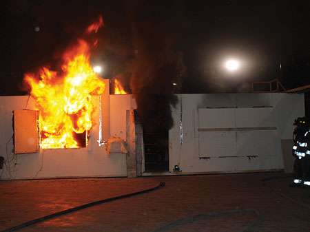 (3) The fire was allowed to go to flashover.