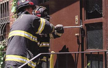 Forcing Outward Swinging Steel Doors Fire Engineering