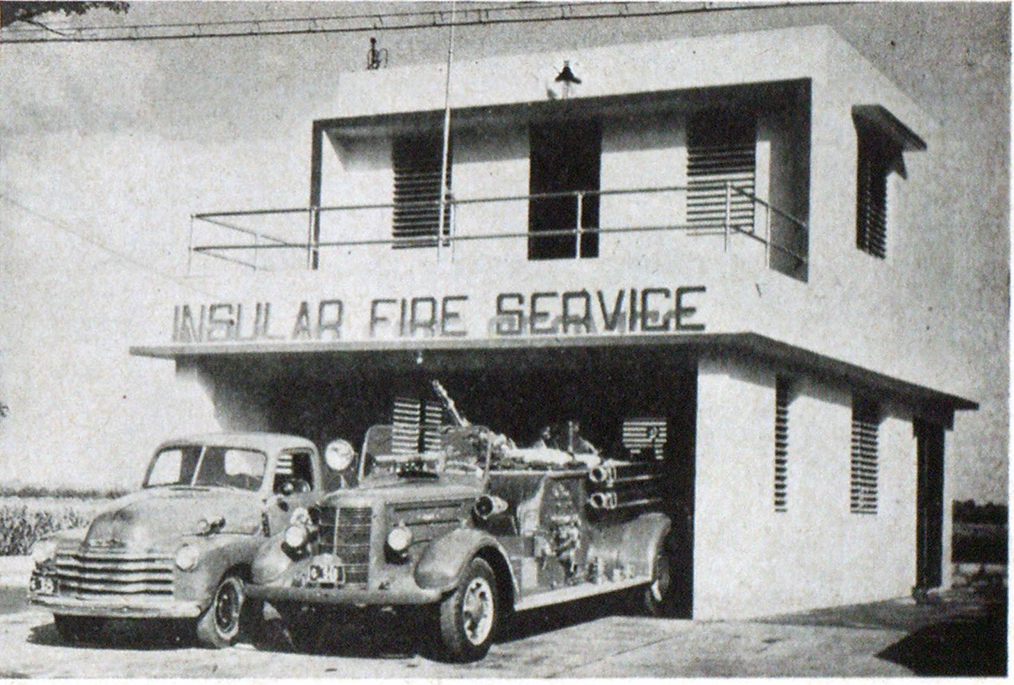 Fire station at Ponce built by firemen.