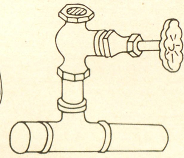 Many Underwriters salvage corps carry globe valves threaded to fit sprinkler openings. This can be used more satisfactorily in place of a temporary plug or stop. To install: (1) Remove ruptured head with pipe wrench; (2) Screw the nipple of the open globe valve into the opening in pipe; (3) Close globe valve