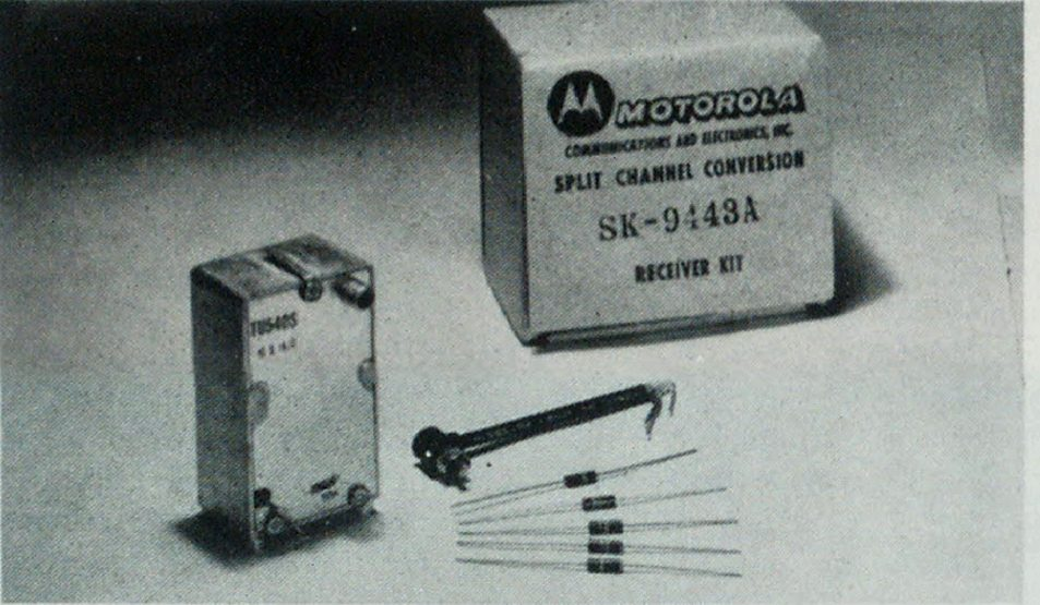 Typical kit of modification parts. While not required by FCC, receiver conversion may be necessary to insure proper reception of narrow-band signals