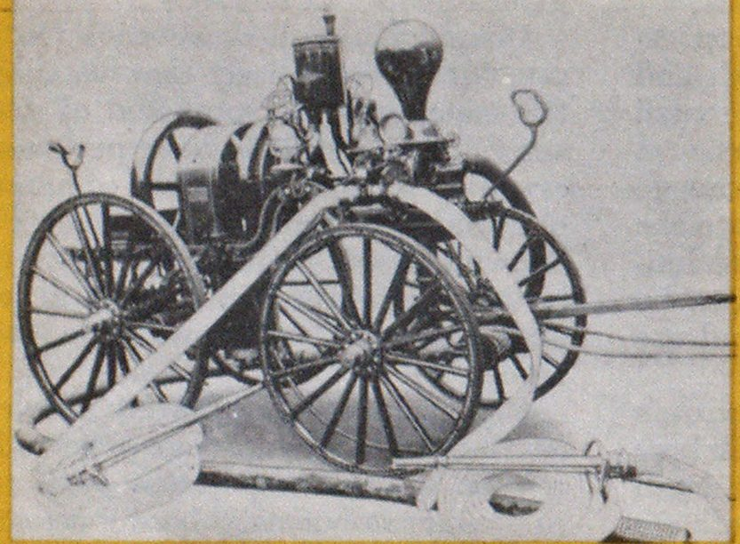 First gasoline-powered fire pump was built by the Waterous Company in 1898.