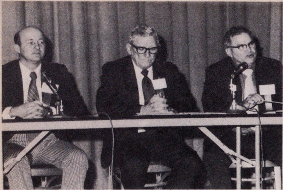 Standards commission panel members are, from left, Carl E. McCoy of Illinois, William F. Eldredge of Florida and Henry D. Smith of Texas