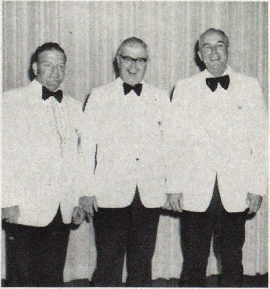 Newly elected officers (left to right): First Vice President George MacPeek, President Francis Quinlan, Second Vice President Charles Houper.