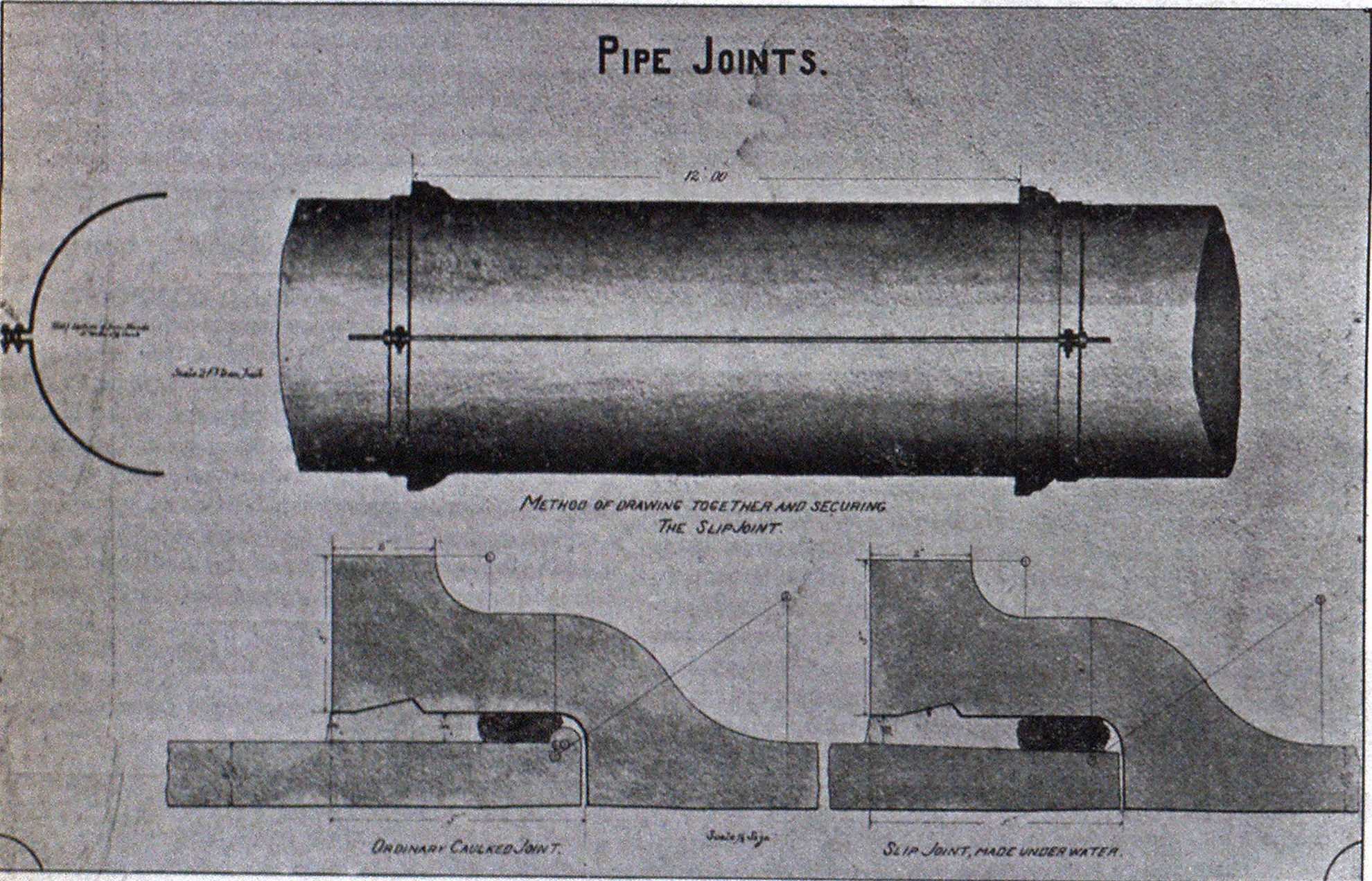 METHOD OF MAKING JOINTS UNDER WATER, ERIE, PA.