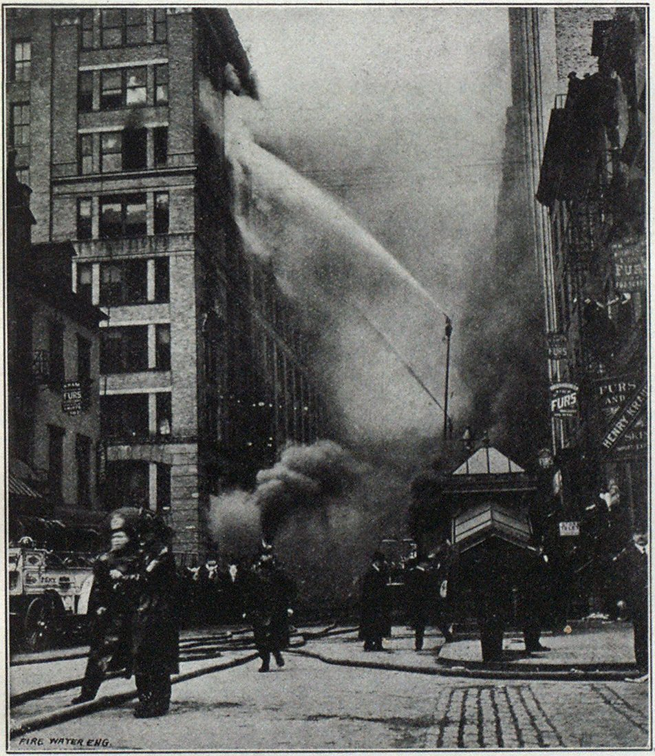 FIRE IN BROADWAY BUILDING, NEW YORK.