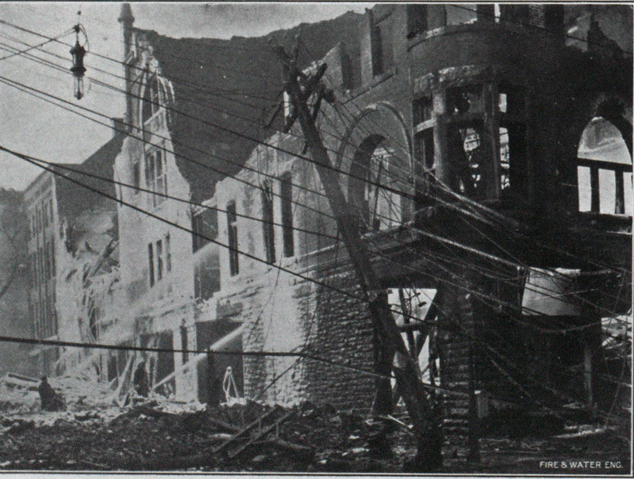 All that Remained of the Y. M. C. A Building, After the Fire in Utica, N. Y.