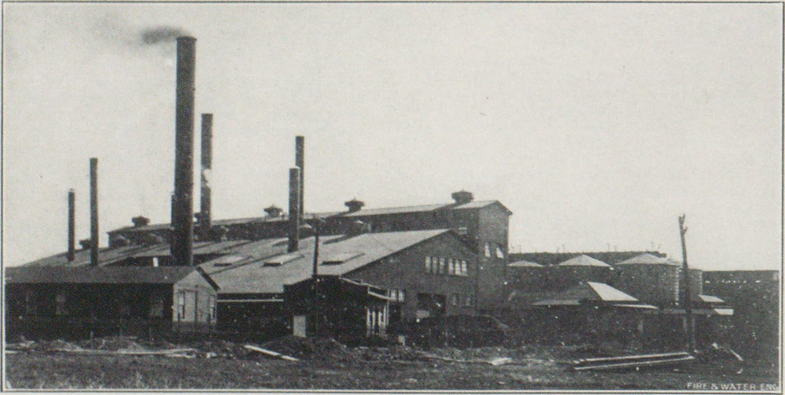 PART OF THE HOOKER ELECTRO-CHEMICAL COMPANY'S PLANT BEFORE THE FIRE.