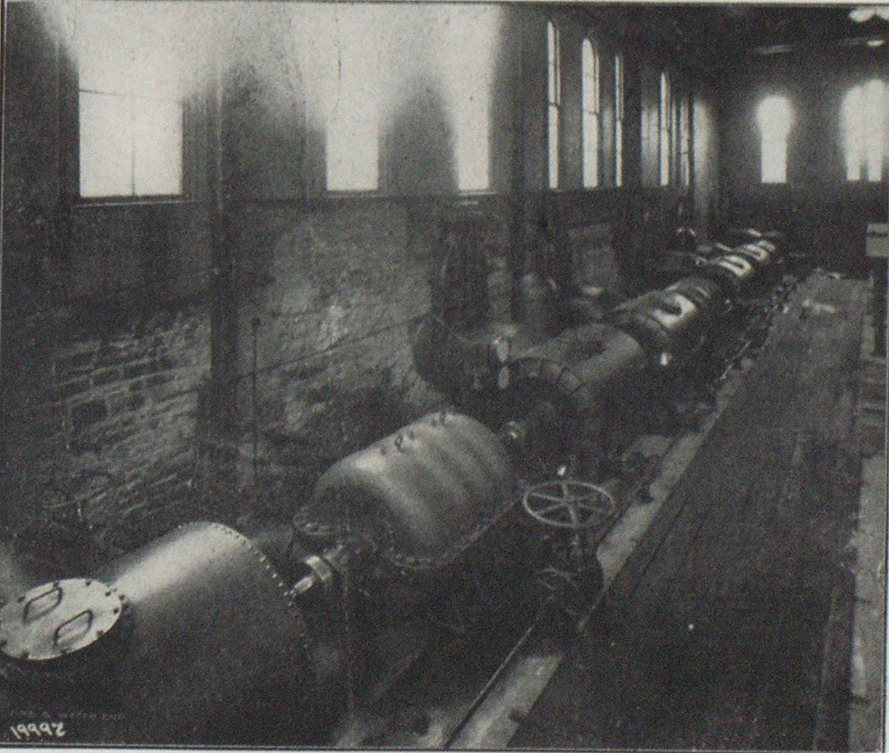 TURBINE OPERATED CENTRIFUGAL PUMPS, WASHINGTON STATION.
