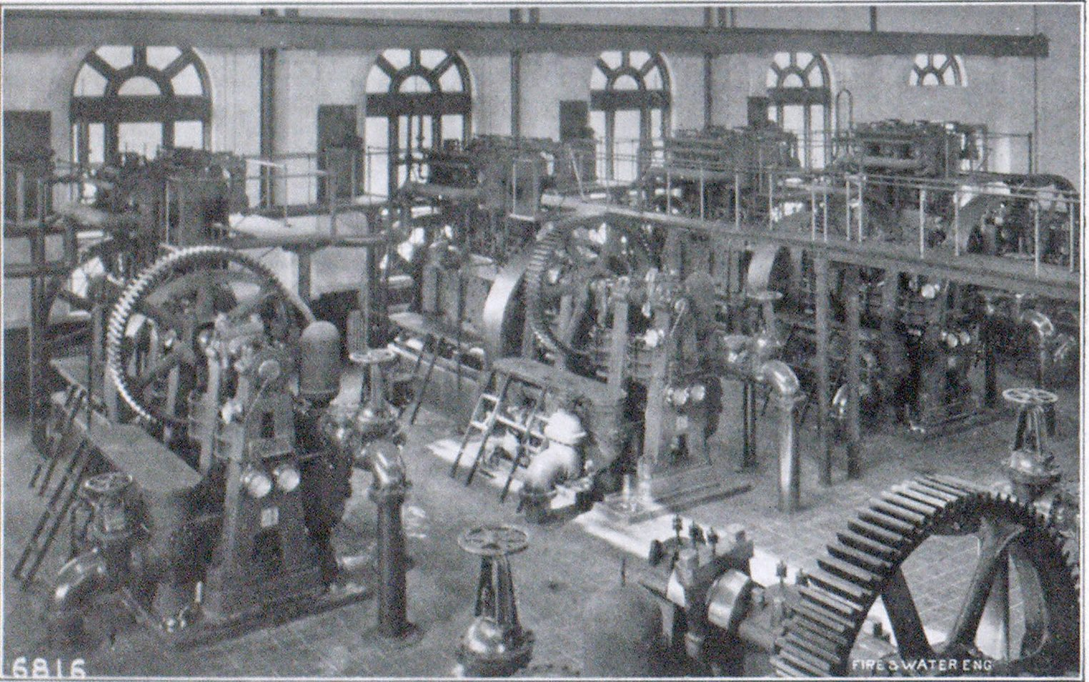 FIG. 3. INTERIOR VIEW, SECOND POWER STATION.