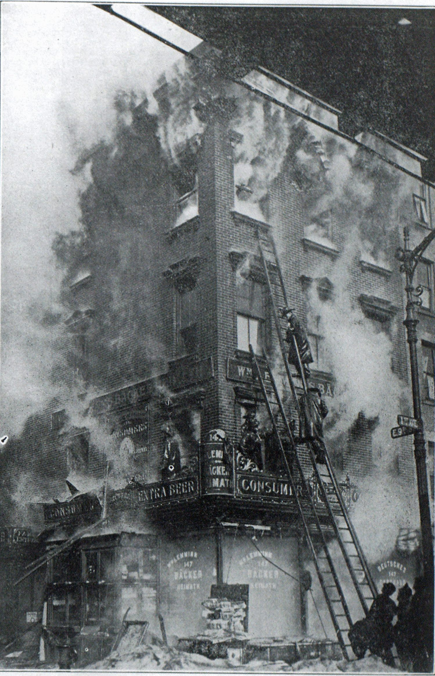 HOTEL AT FIRST AVE. AND NINTH ST., NEW YORK, DESTROYED ON FEB. 24.